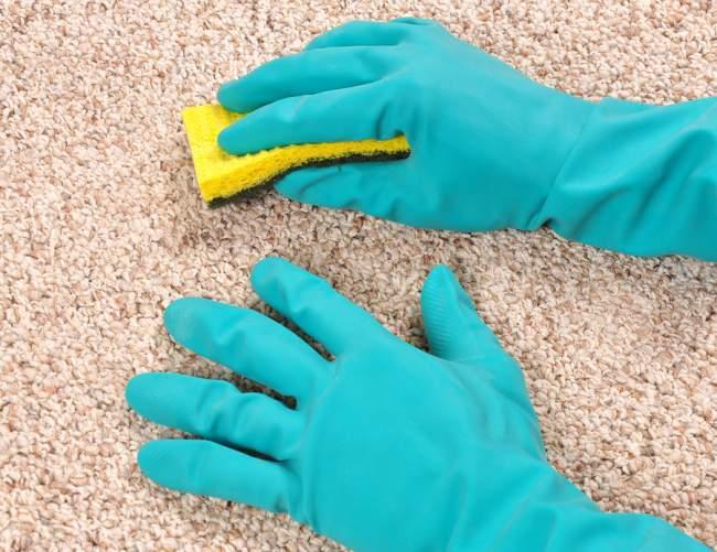 clean dried nail polish spills
