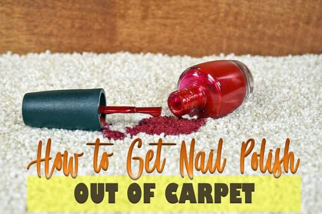 get nail polish out of carpet