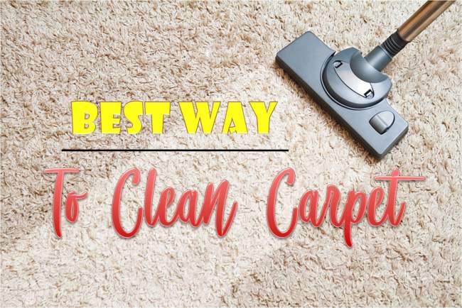 best way to clean carpet