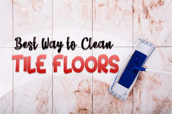 way to clean tile floors