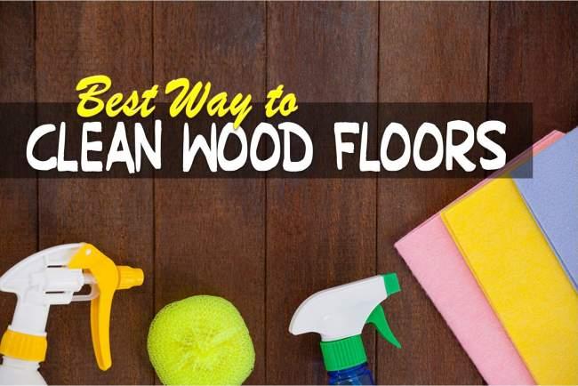 way to clean wood floors