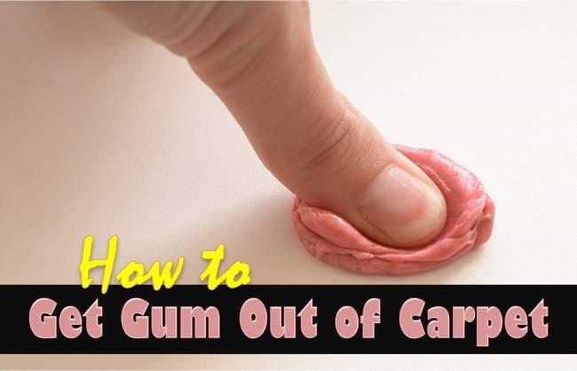 get gum ouf of carpet