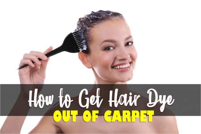 get hair dye out of carpet