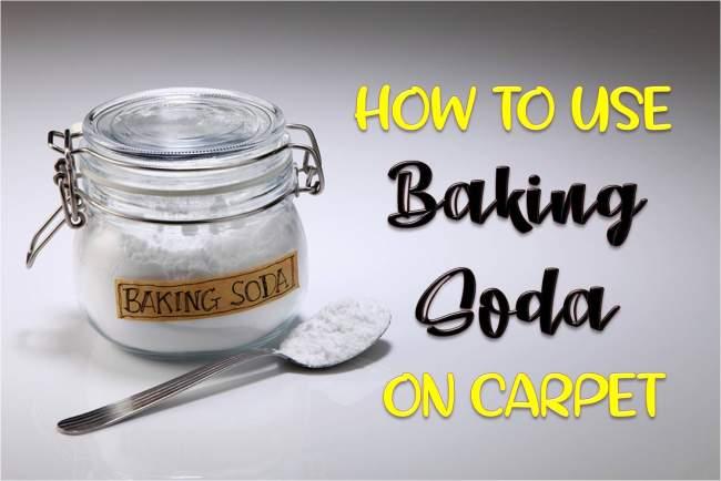 use baking soda on carpet