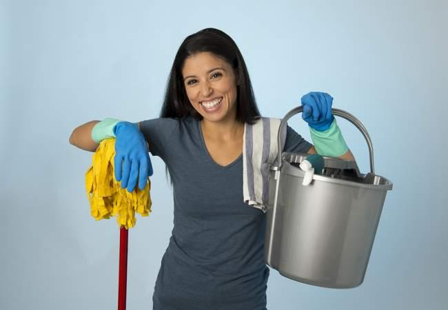 materials to clean linoleum floors