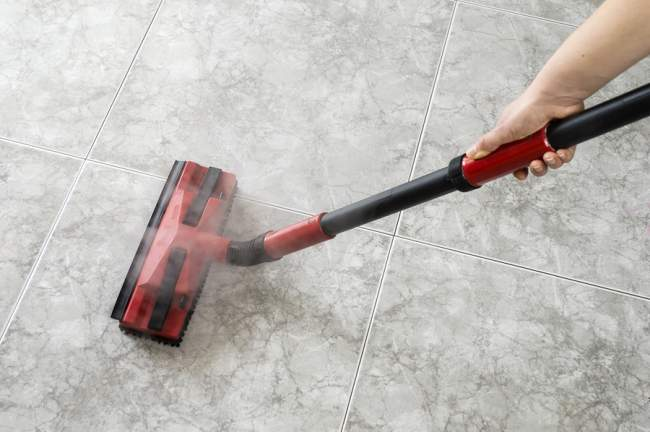 steam mop to clean garage floors