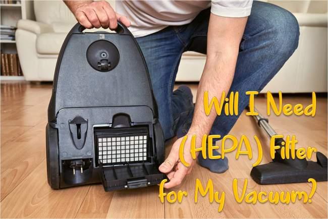 HEPA filter for vacuum