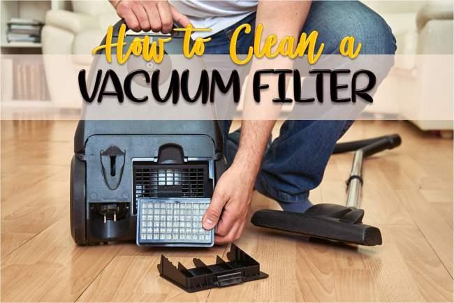 clean a vacuum filter