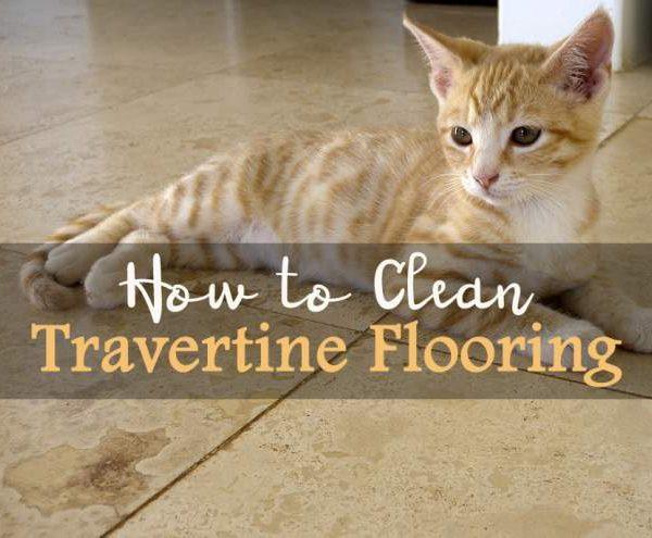 clean travertine flooring