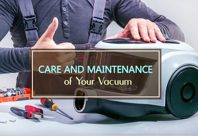 maintenance of your vacuum
