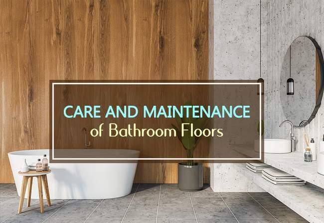 care for bathroom floor