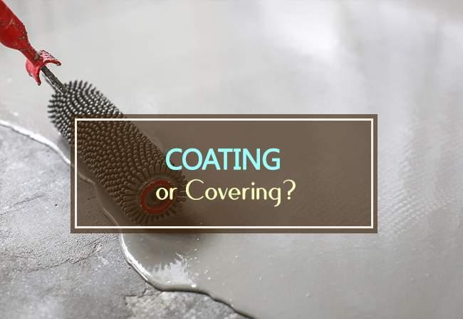 coating or covering garage floor