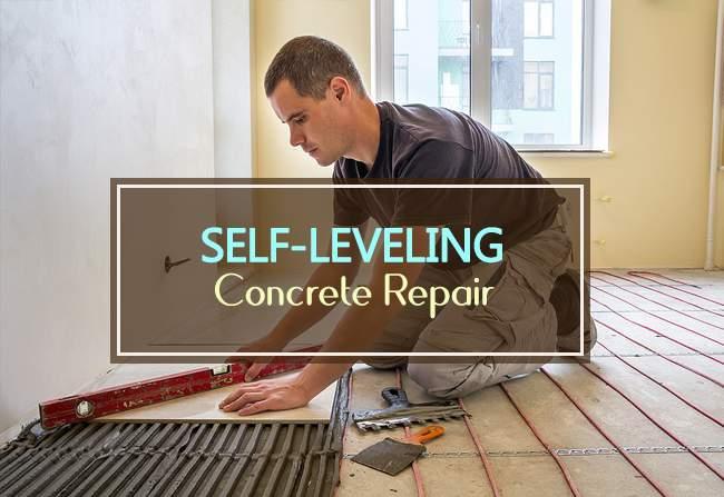 self leveling concrete repair