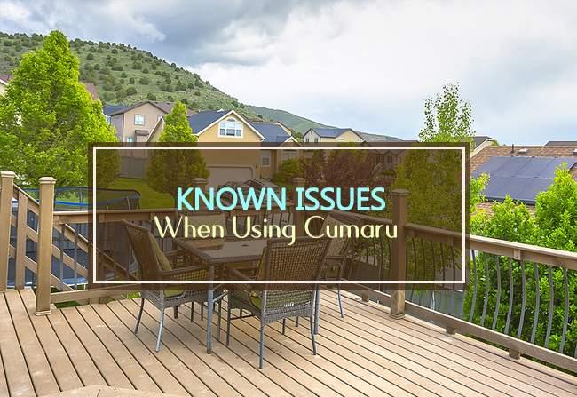 cumaru known issues