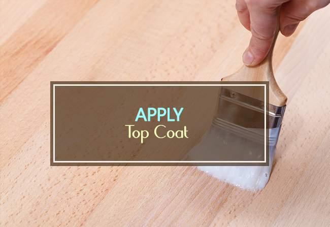 apply top coat