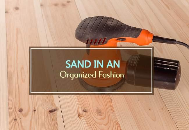 sand in an organized fashion