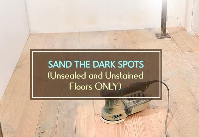 sand the dark spot