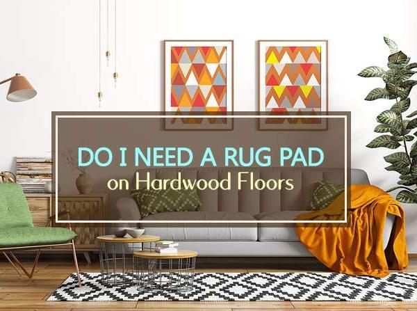 rug pad on hardwood floors