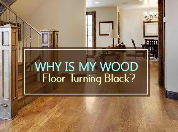 wood floor turning black