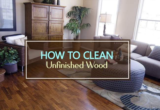 clean unfinished wood