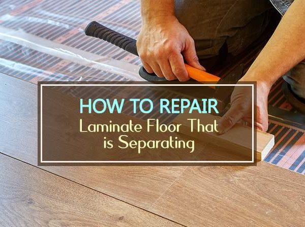 how to repair laminate floor that is separating