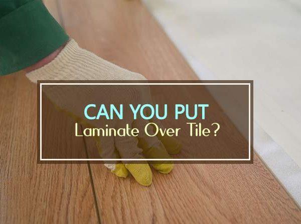 put laminate over tile