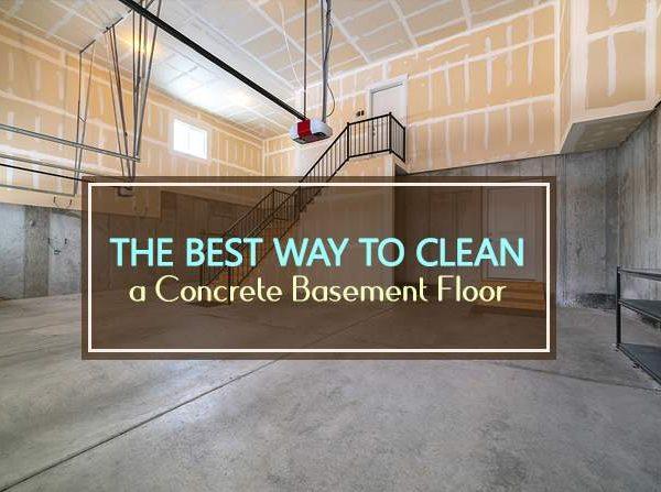best way to clean concrete basement floor