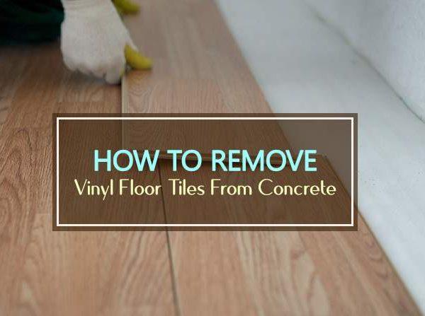 how to remove vinyl floor tiles from concrete
