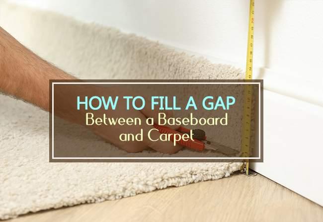 fill a gap between baseboard