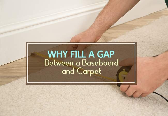 why fill a gap between baseboard and carpet